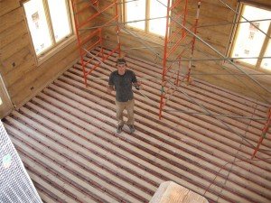 radiant floor heat installation - goes with solar thermal category